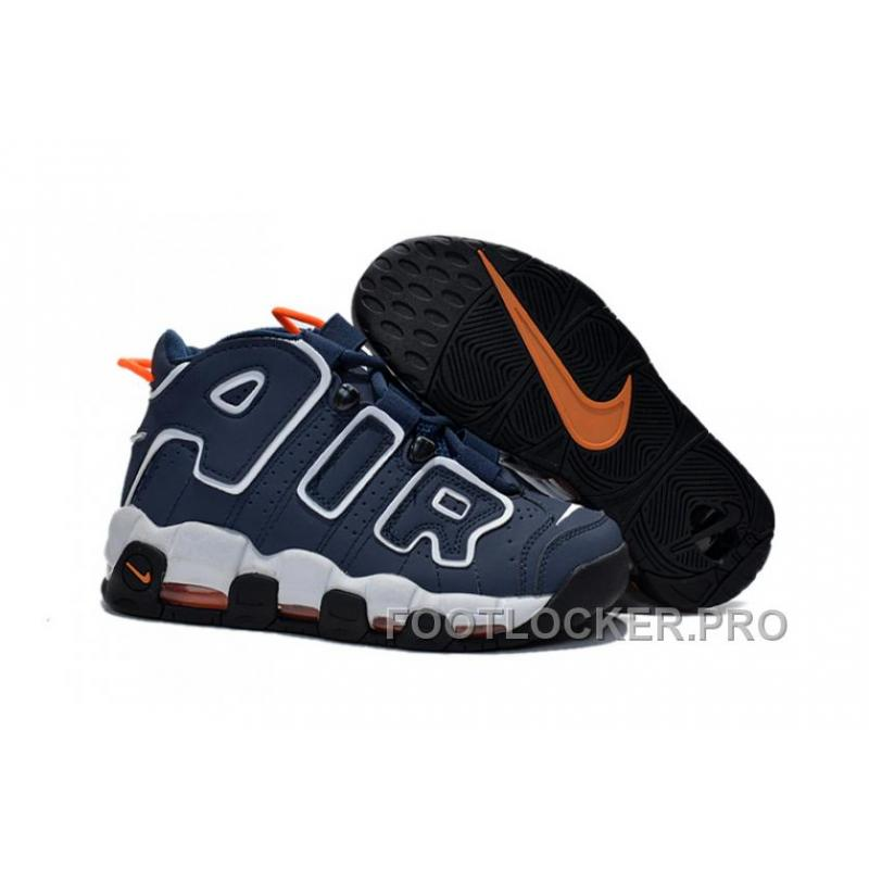 Top Deals Womens Nike Air More Uptempo GS Dark Obsidian Orange New Sale For Girls