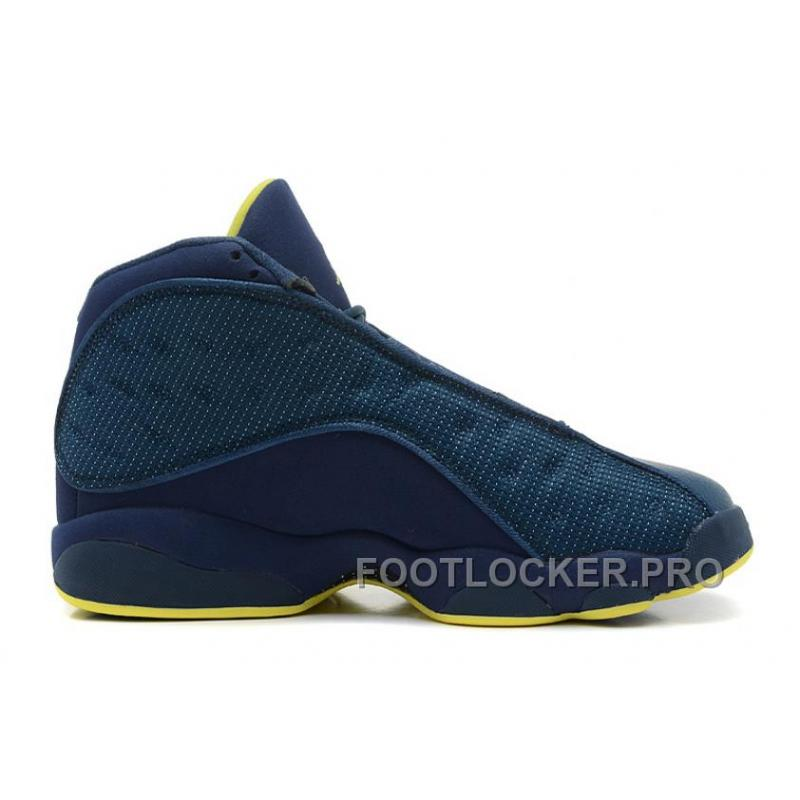 37b93310d32119 Air Jordan 13 Squadron Blue Electric Yellow-Black For Sale Top Deals ...