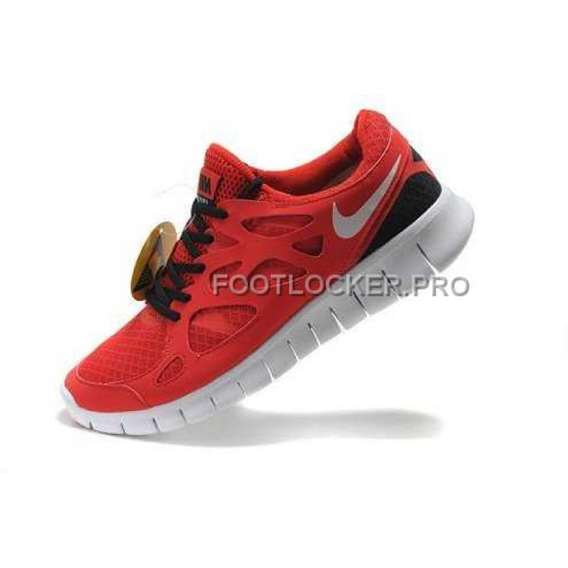 big sale 13f96 31e65 Nike Free Run 2 Mens Challenge Red White Black Shoes New