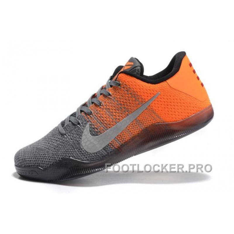 2a29ec072980 ... Nike Kobe 11 Elite Low Easter Grey Orange Newest For Sale