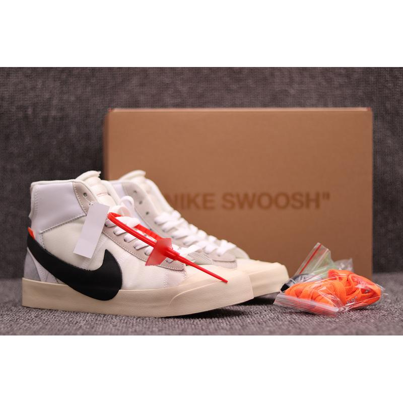 Sulfide OFF-WHITE X Nike Blazer Mids To Be Retro Limited Skateboard Shoes  AA3832-100 WHITE And Black Latest