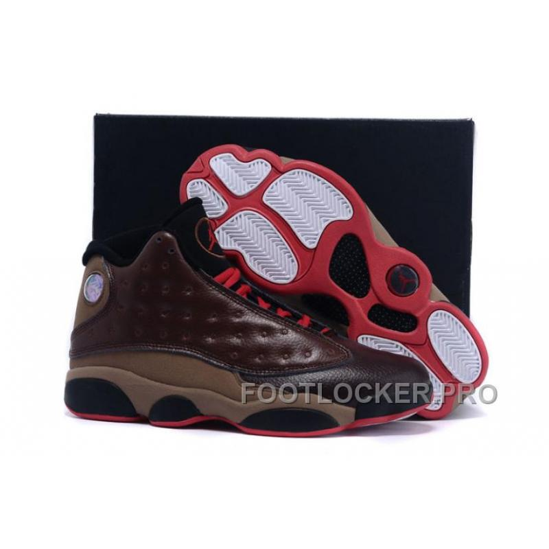 check out cc58c 75c78 Air Jordans 13 Cigar Custom By Damien Brown Black Red Lastest ...