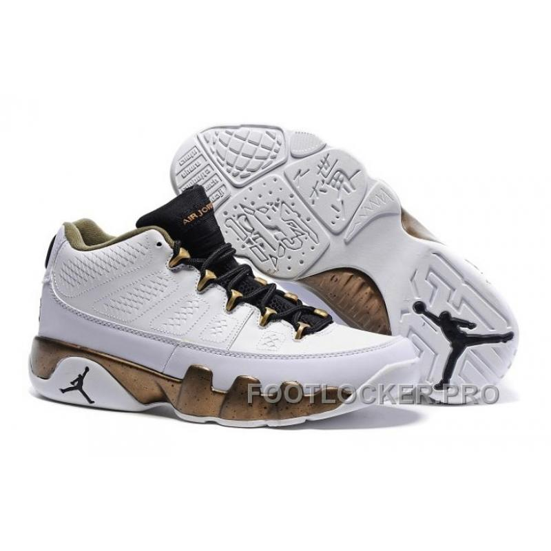 "separation shoes cbd7b eb522 Air Jordan 9 Retro Low ""Copper Statue"" White Black-Militia Green For ..."