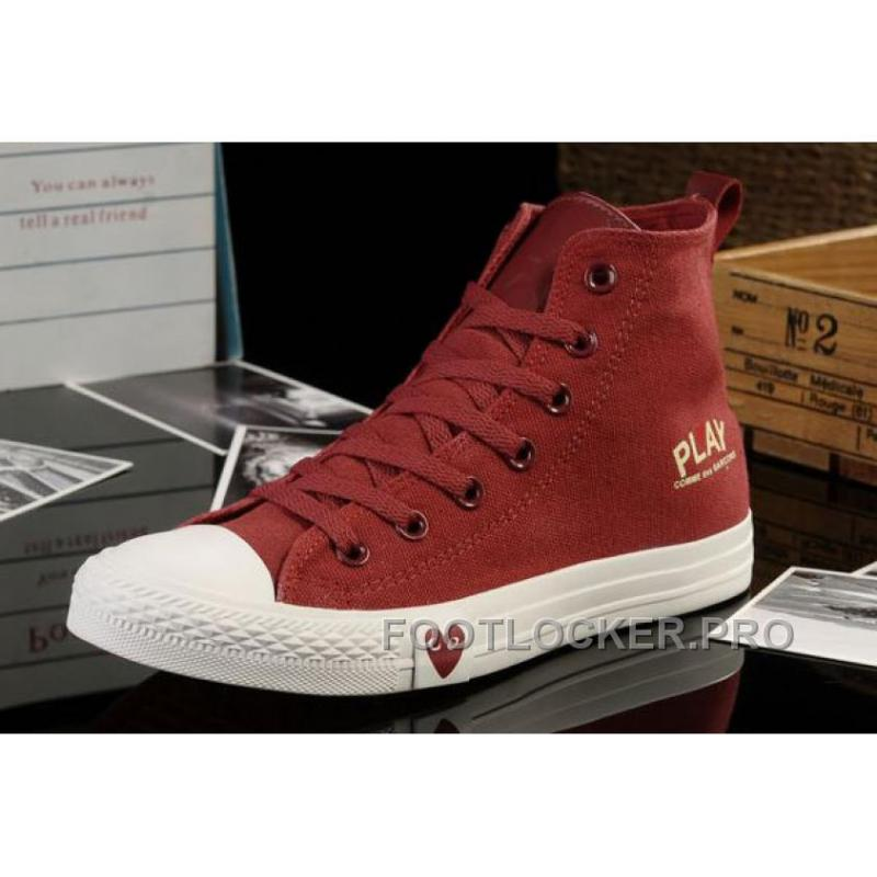 Red High Tops CONVERSE All Star Light Comme Des Garcons Play Canvas Shoes Discount