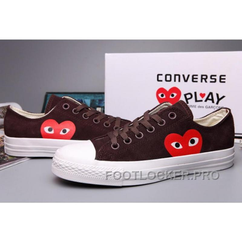0fdab3e5723f ... Online Brown CONVERSE Comme Des Garcons Suede Chuck Taylor All Star Low  ...