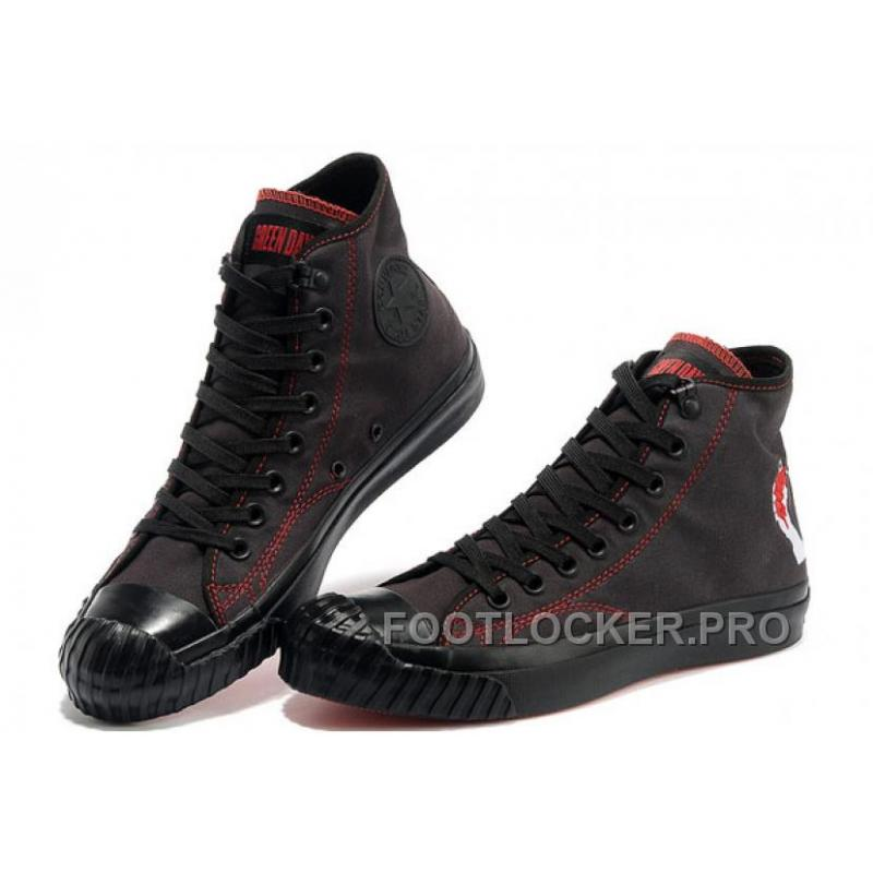 Cheap To Buy CONVERSE American Idiot Green Day Black Red All Star High Ps  Canvas Bosey ... 7f292b411
