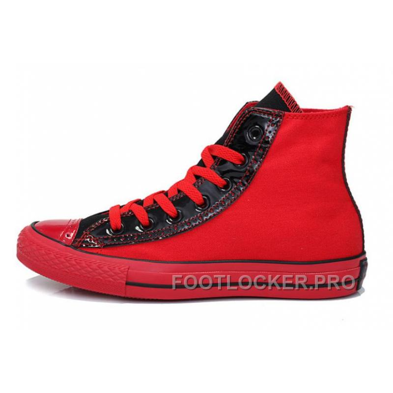 Authentic Red Black High Tops CONVERSE Heritor Chuck Taylor All Star Canvas Sneakers