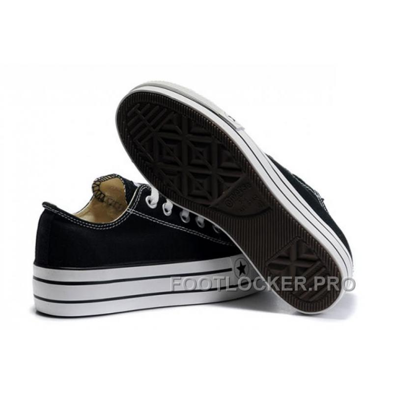 be524f94767e Discount Black Platform CONVERSE All Star Canvas Women Shoes Classic ...
