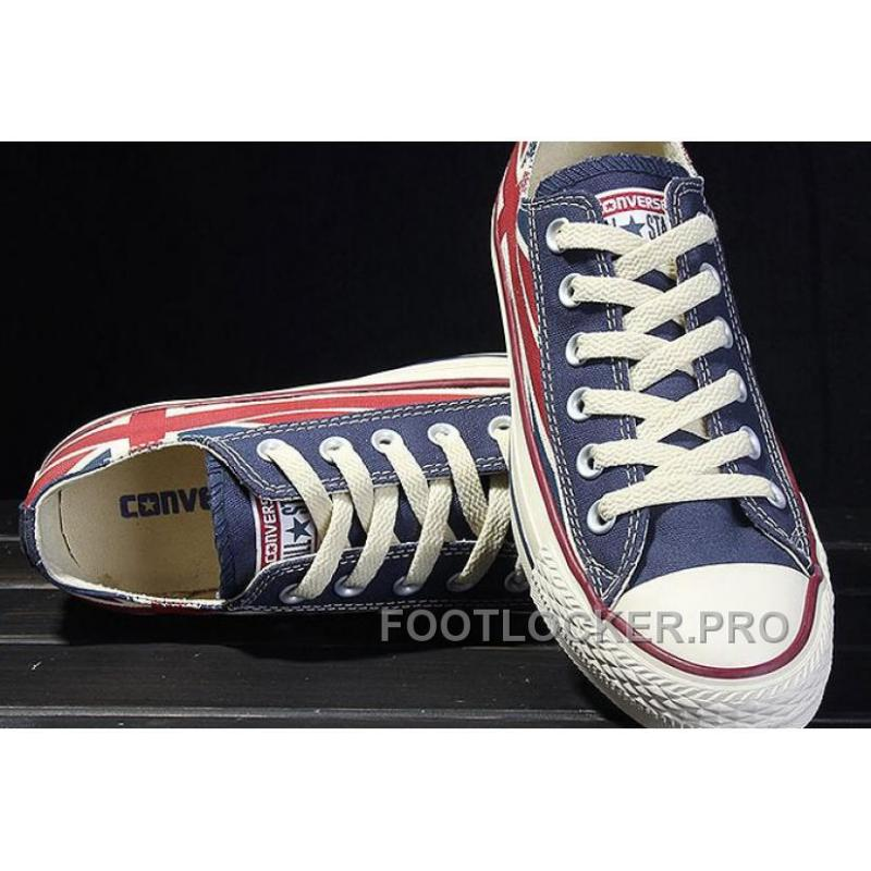 bfe2b8157394 ... Red Blue CONVERSE Rock Union Jack British Flag Chuck Taylor All Star  Canvas Sneakers Super Deals ...