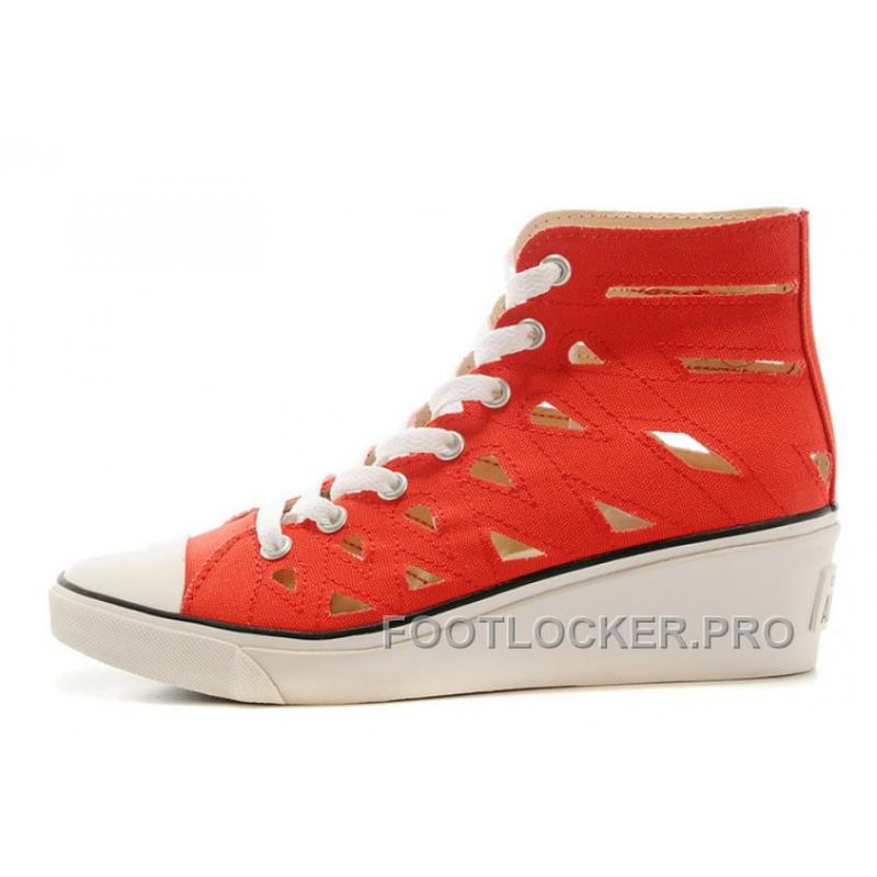 7868435ee3c2 Red CONVERSE All Star Women Mermaid Wedge Heel Chuck Taylor Sandals Cheap  To Buy ...
