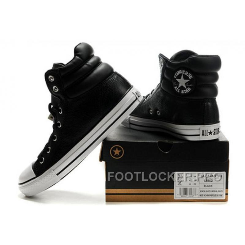 2da38806d1f4ea ... New Embroidery Black Leather CONVERSE Padded Collar Chuck Taylor All  Star Winter Boots Discount