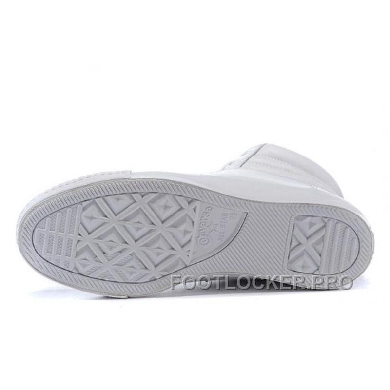 c65175f9111fb4 ... Full White CONVERSE Embroidery Leather Padded Collar Winter CTAS Shoes  New Release ...
