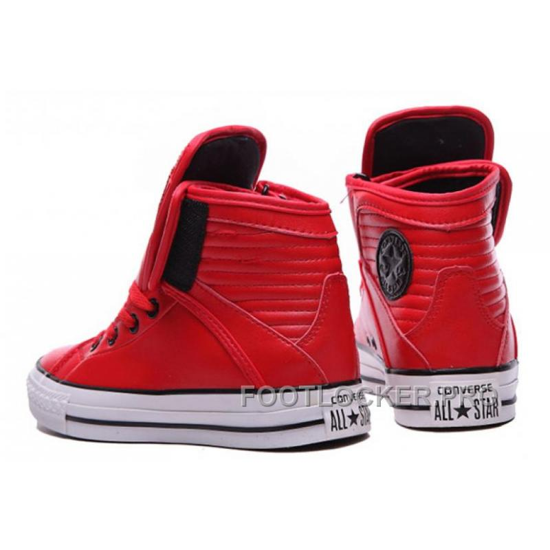 ... Free Shipping Red All Star CONVERSE Velcro Leather High Big Tongue  Winter ... 70550c6ad