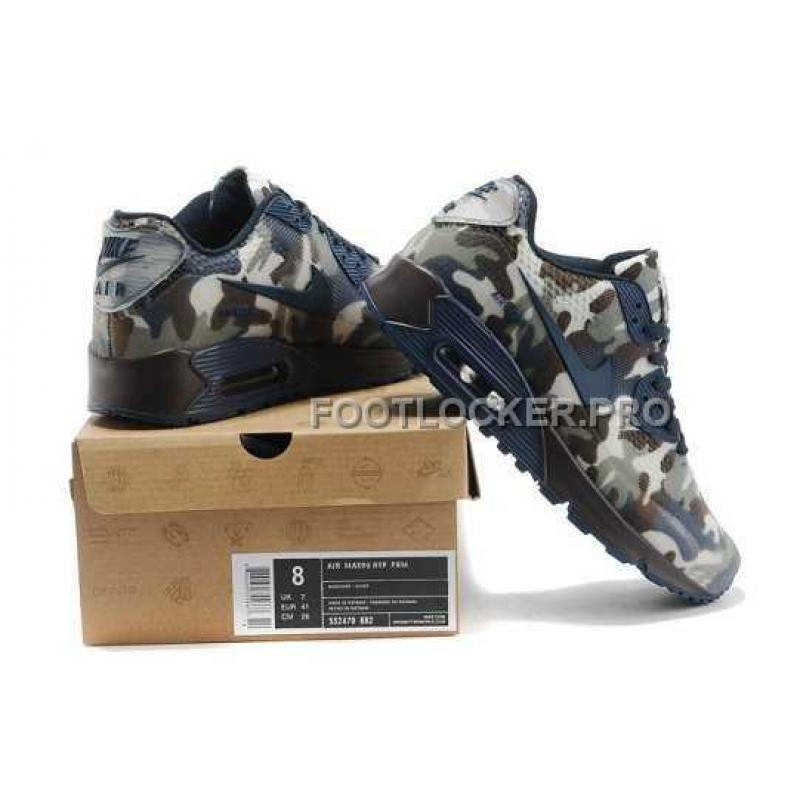 d815e1a892709 Discount Nike Air Max 90 Womens HYP KPU TPU Camo Dark Blue, Price ...