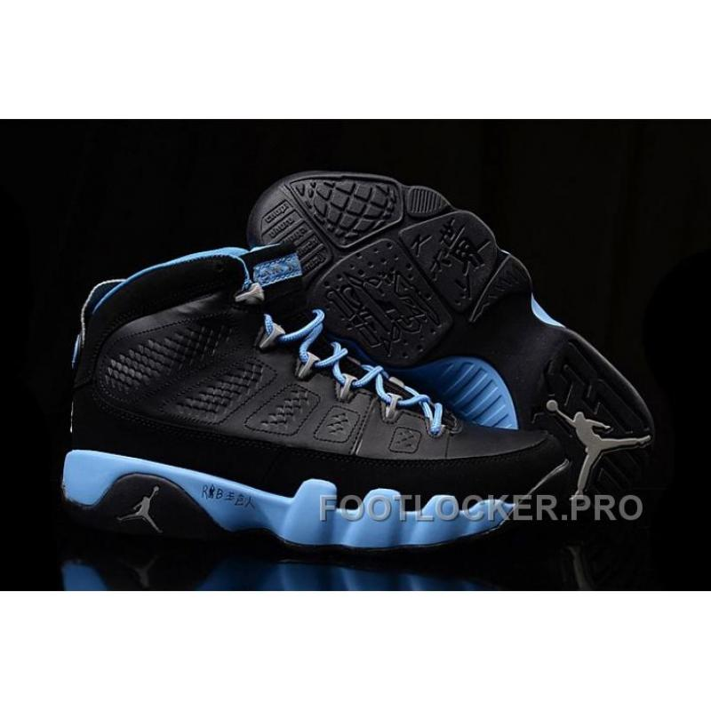 "best website 50a1d a4af7 Girls Air Jordan 9 ""Slim Jenkins"" Black Blue For Sale New Release ..."