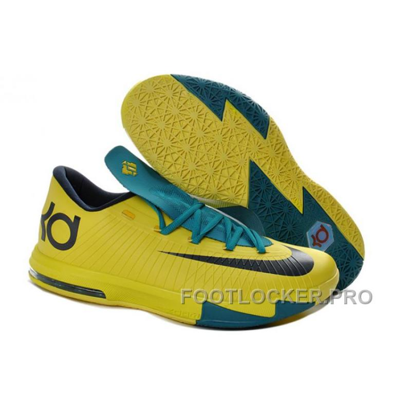"6b7fcd322bd6 Girls Nike KD 6 ""Seat Pleasant"" Yellow Teal For Sale Authentic ..."