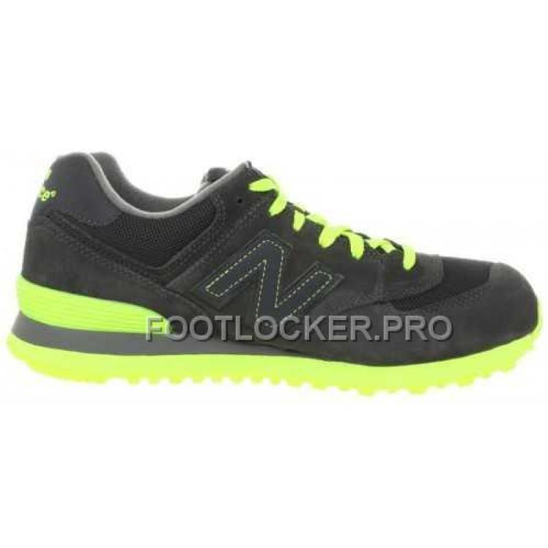 size 40 91408 6dd50 Hot New Balance 574 Mens Black Grey Neon Green