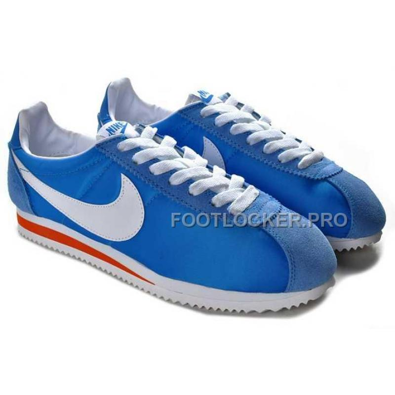 sports shoes 0a2b5 9d194 ... Hot Nike Classic Cortez Nylon Mens Ocean Blue White Red ...