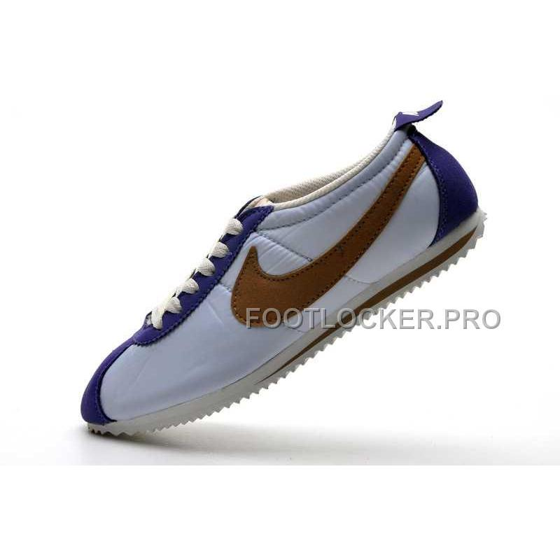 check out ef773 65bed Hot Nike Cortez 2 Oxford Cloth Women Shoes Blue Brown ...