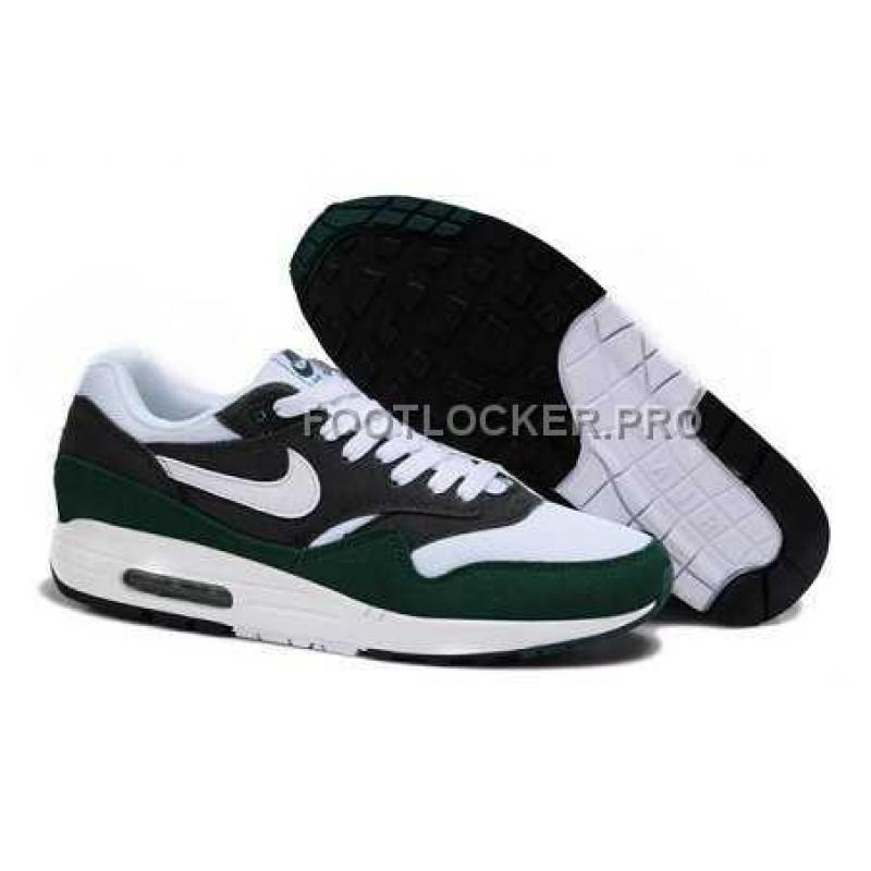 new products d2a62 6d1be New Arrival Nike Air Max 1 87 Mens White Green Black ...