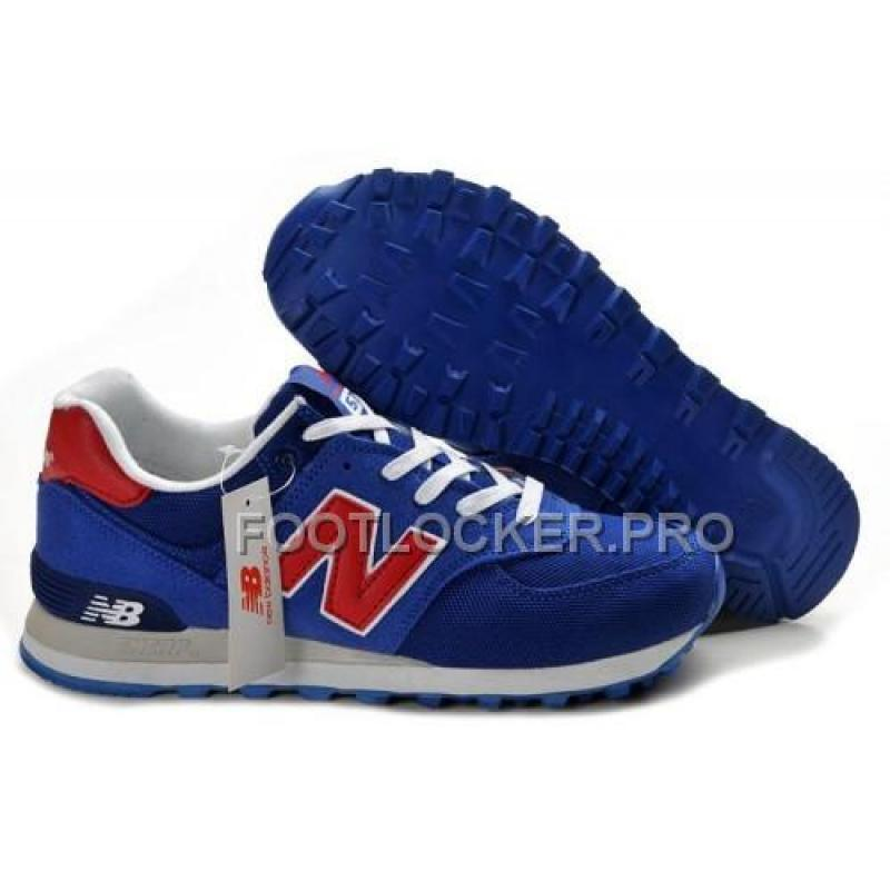 New Balance 574 Womens Navy Blue Red White Shoes For Sale