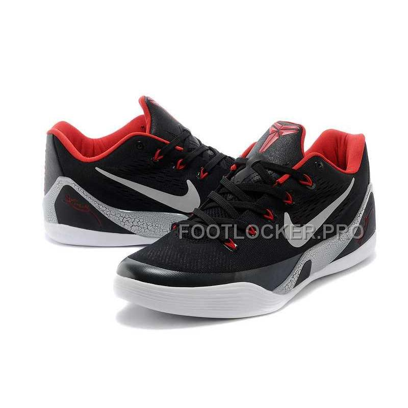 new product eab33 07e2a New Nike Kobe 9 Low Mens Black Red