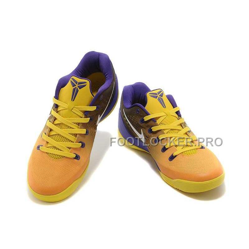 pretty nice 095d4 d1412 New Nike Kobe Ix Em Low Mens Yellow Violet