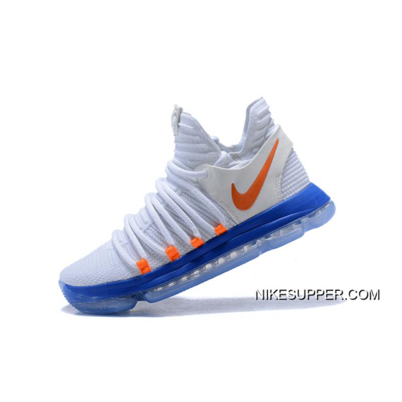 info for 39342 76d21 ... Discount Nike KD 10 White Blue Orange ...