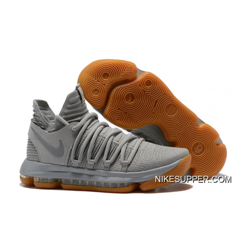 a743e1ea6459 For Sale Nike KD 10 Pale Grey Light Bone-Gum ...