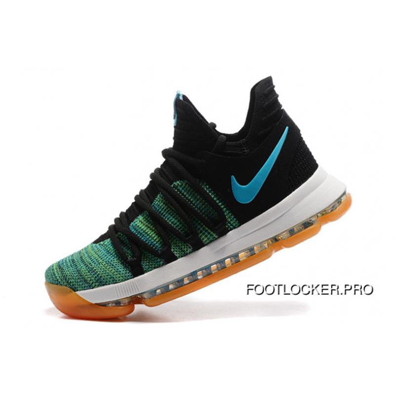 huge selection of fd123 95756 ... coupon code for free shipping nike kd 10 green black white men shoes kevin  durant 61ee1