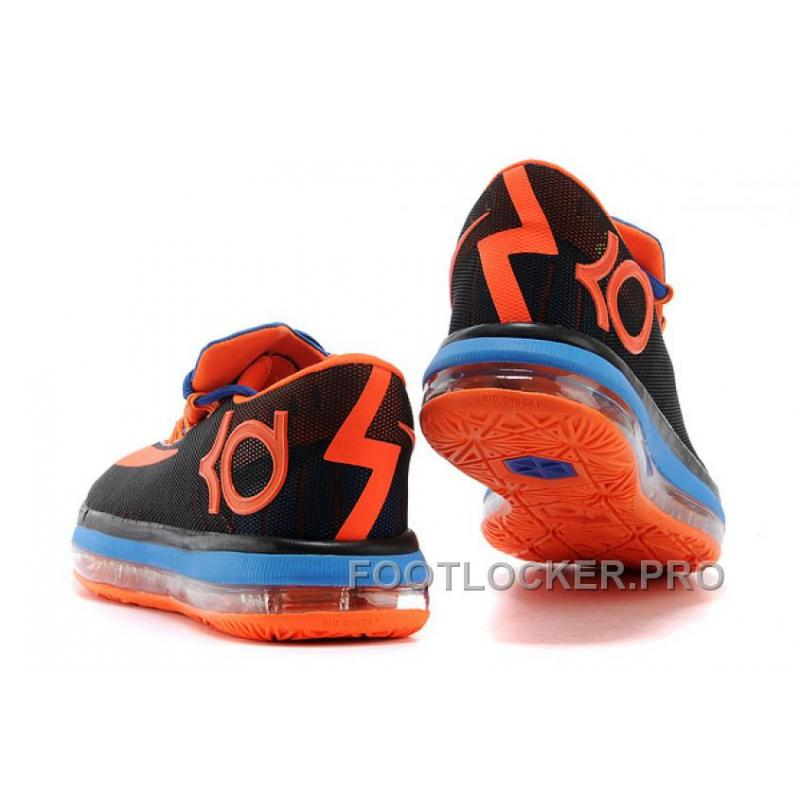buy popular fe976 1883b ... Nike KD 6 VI Elite Black Royal Blue-Team Orange For Sale Lastest
