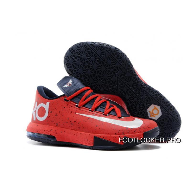 """promo code 13301 2d8cc New Style Nike Kevin Durant KD 6 VI """"Red Speckle"""" PE ..."""