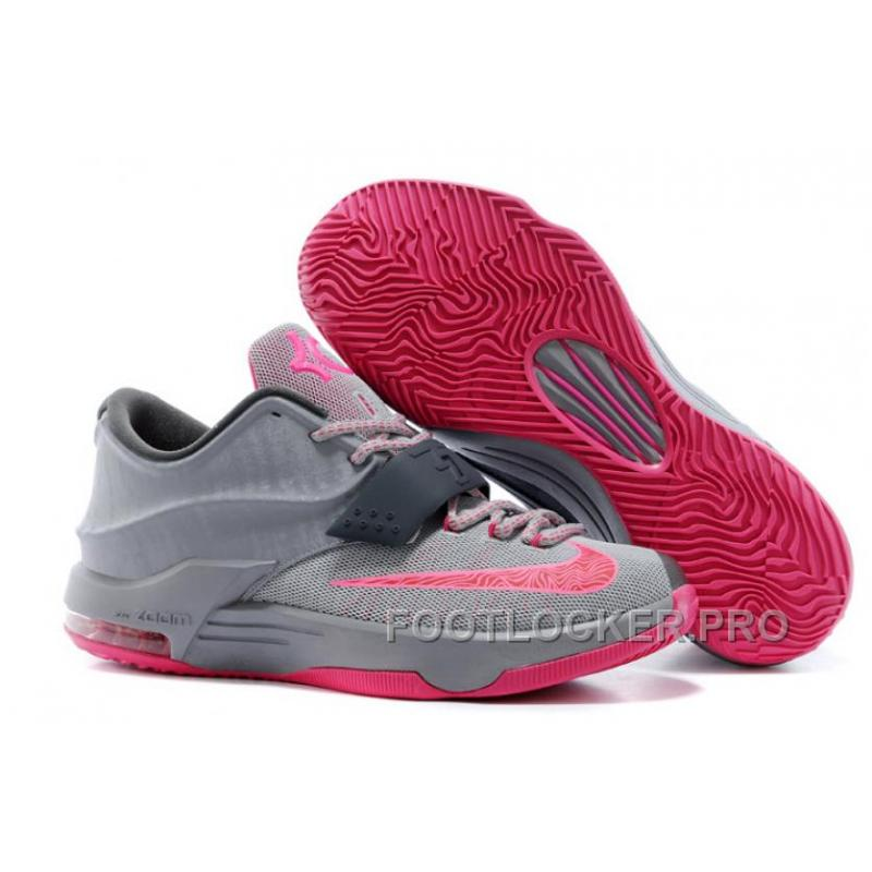 "buy popular 15478 f35ce Nike Kevin Durant KD 7 VII ""Calm Before The Storm"" Grey Hyper Punch ..."