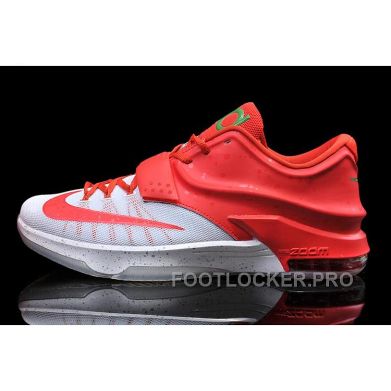 "pretty nice 046cd 5a3d4 Nike Kevin Durant KD 7 VII ""Christmas Egg Nog"" White/Red For Sale Online  Free Shipping"