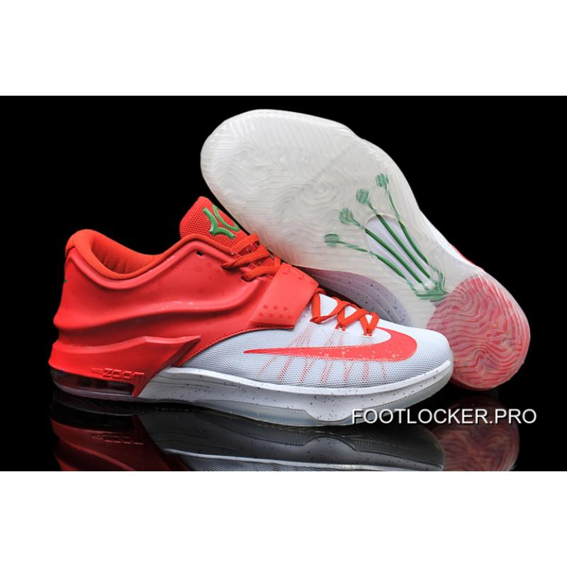 "premium selection 51e31 1f73f Nike Kevin Durant KD 7 VII ""Christmas Egg Nog"" White Red Online New ..."