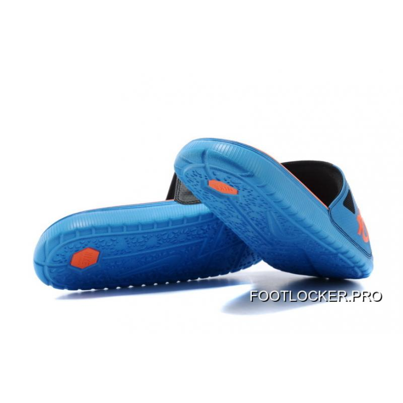 72c4a119bf950 ... Top Deals Nike KD Slide Slippers Black Blue Orange ...
