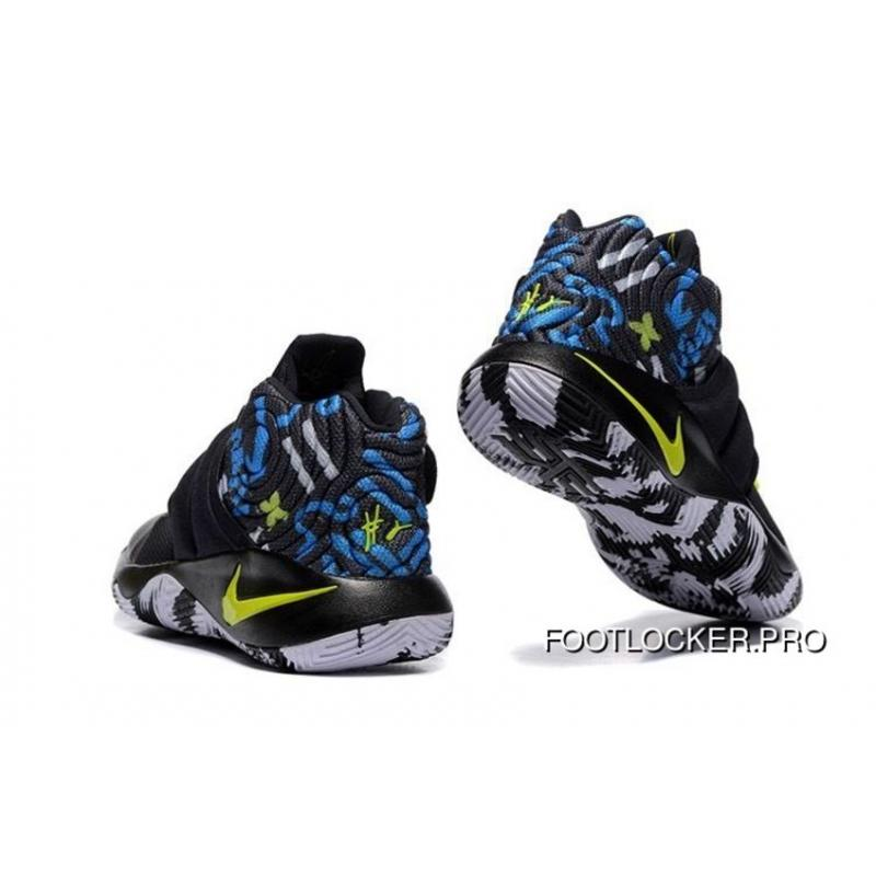 """new product 44b23 c3392 Nike Kyrie 2 """"Camo"""" Black/Neon Green Basketball Shoes New Release"""
