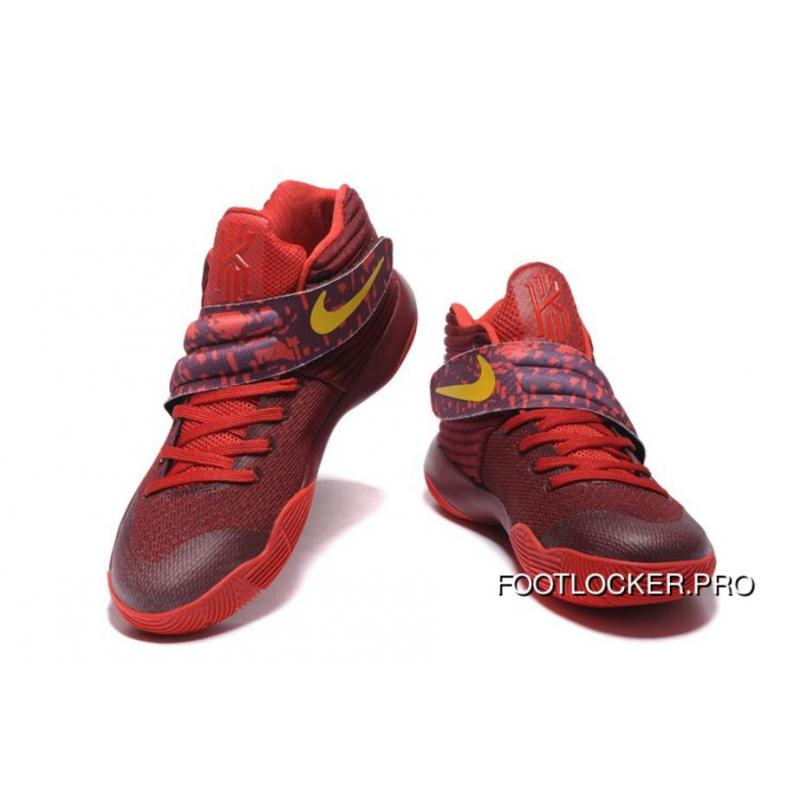 """best loved 1658b 87f10 Nike Kyrie 2 """"Cavs"""" PE Wine Red Yellow For Sale"""