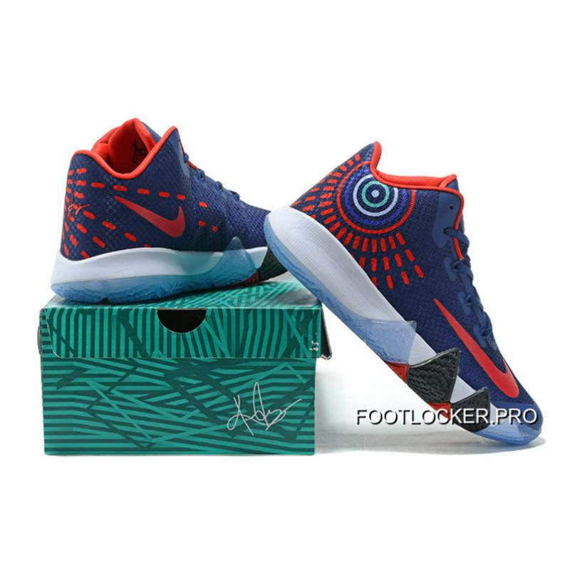 timeless design 12e80 744aa Nike Kyrie 4 Mens Basketball Shoes Blue Red New Release