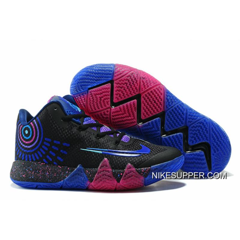 """the best attitude 0b639 68ac6 Nike Kyrie 4 """"Flip The Switch"""" Black/Photo Blue New Style"""