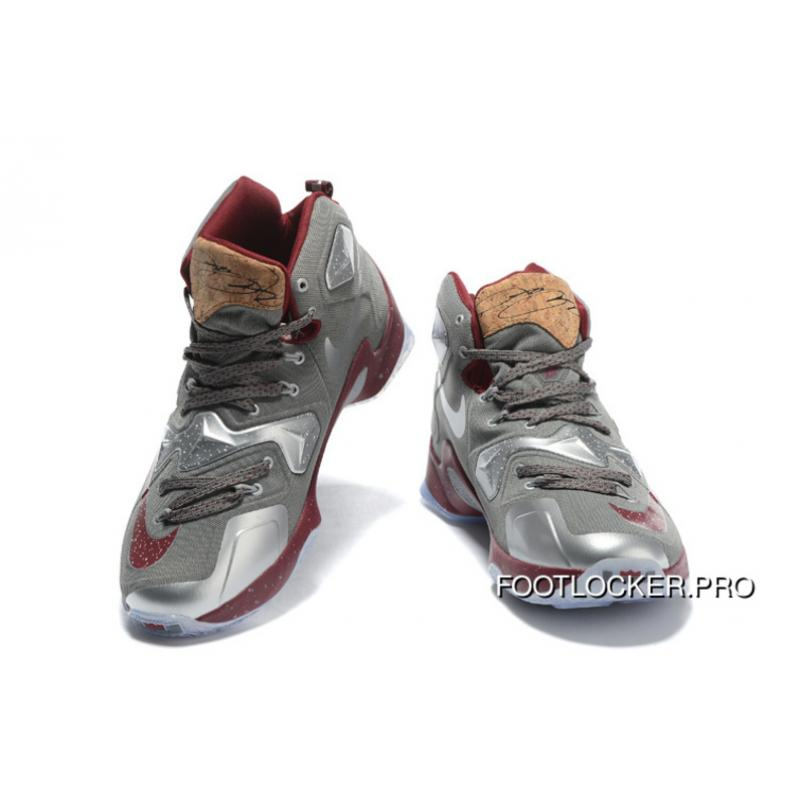 "on sale 79290 6d4d5 ... Nike LeBron 13 ""Opening Night"" Fine Wine Wolf Grey Basketball Shoes For  Sale ..."