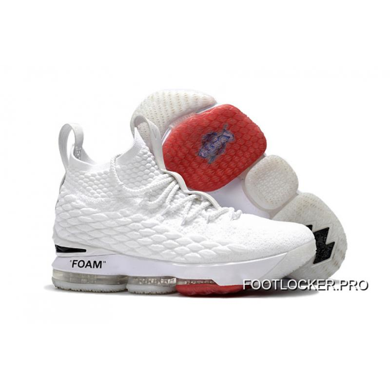 c958d86349f4 OFF-WHITE X Nike LeBron 15 White Outlet ...