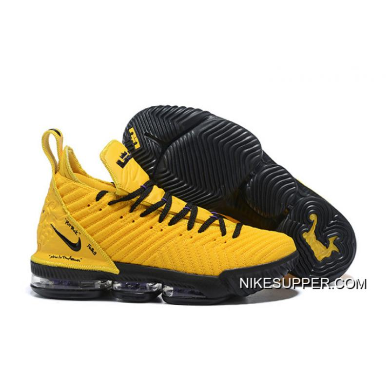new concept 2535c a9fd9 For Sale Nike LeBron 16 Yellow/Black PE