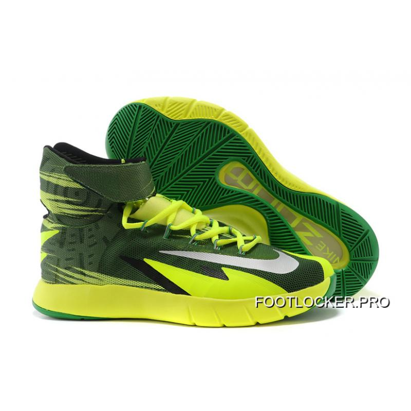 newest db86d c60dc Free Shipping Nike Zoom Hyperrev KYRIE IRVING Black Metallic  Silver Electric Green ...