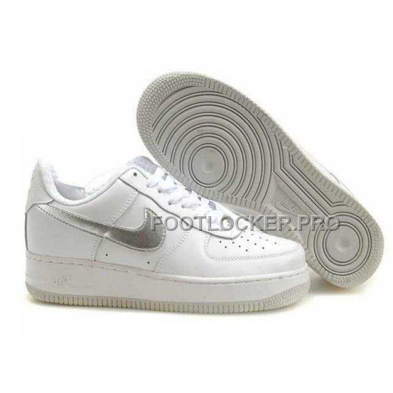 free shipping 286ad 0f112 Nike Air Force 1 Low Mens White Silver Hot