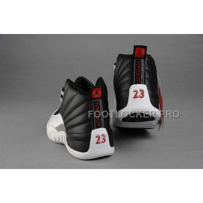 finest selection c5f6f bab92 Nike Air Jordan 12 Mens Leather Black White Shoes New