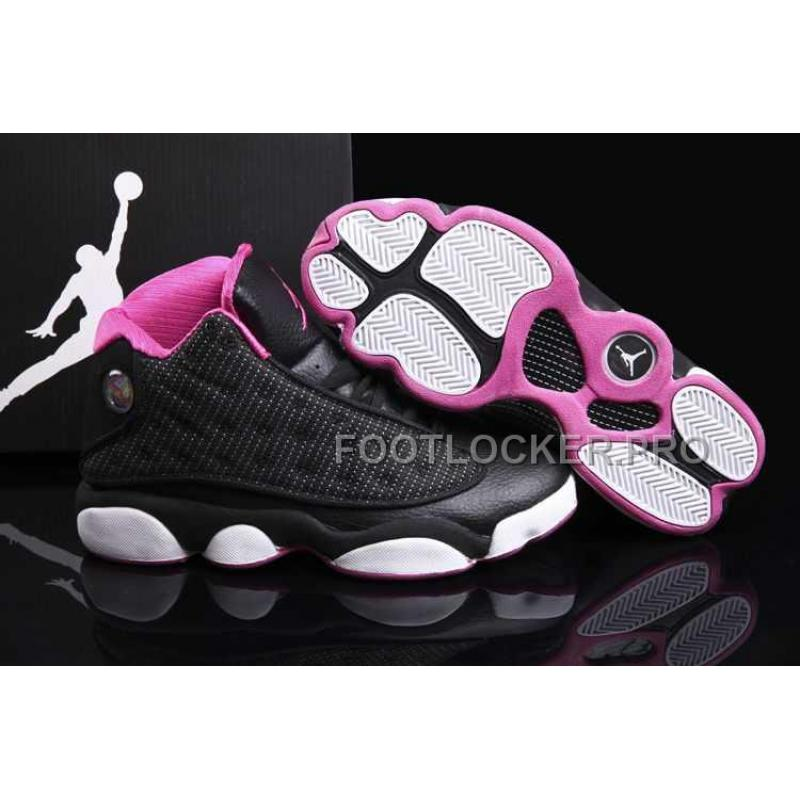 huge discount bf9a5 e5886 Nike Air Jordan 13 Womens Black White Pink Shoes New, Price: $85.82 ...