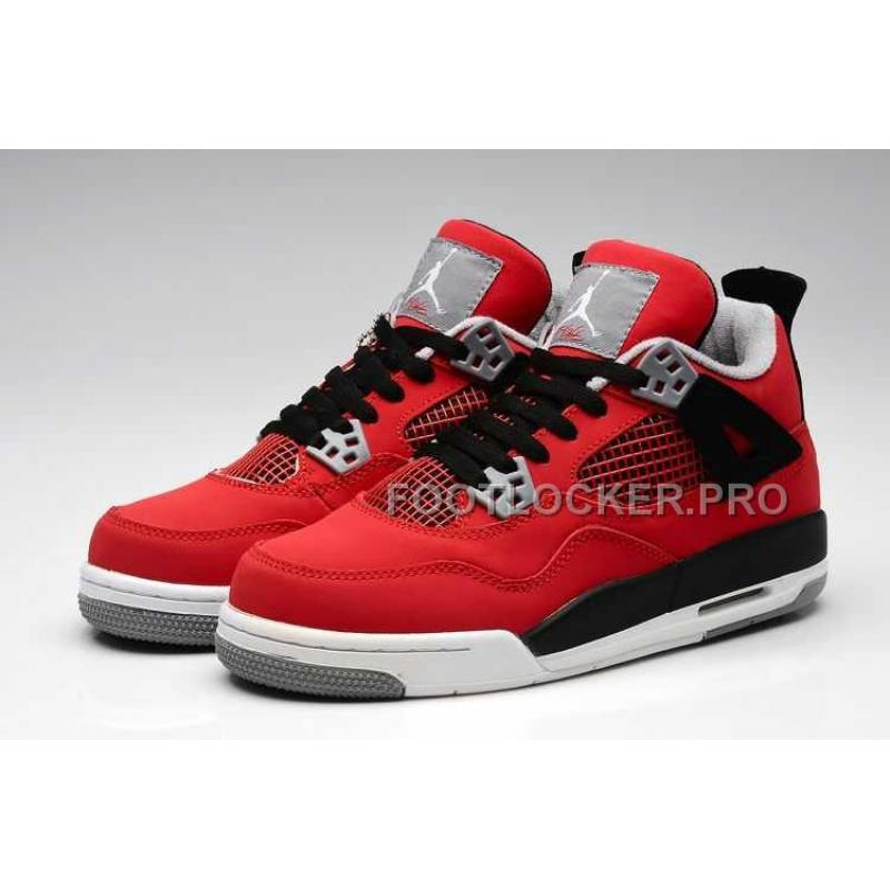 info for 5dc39 a7f15 Nike Air Jordan 4 Womens Anti Fur Red Black Shoes New