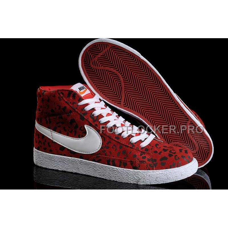 the latest fcc4a 36bdb Nike Blazer High Print Mens Red White Black Shoes Online