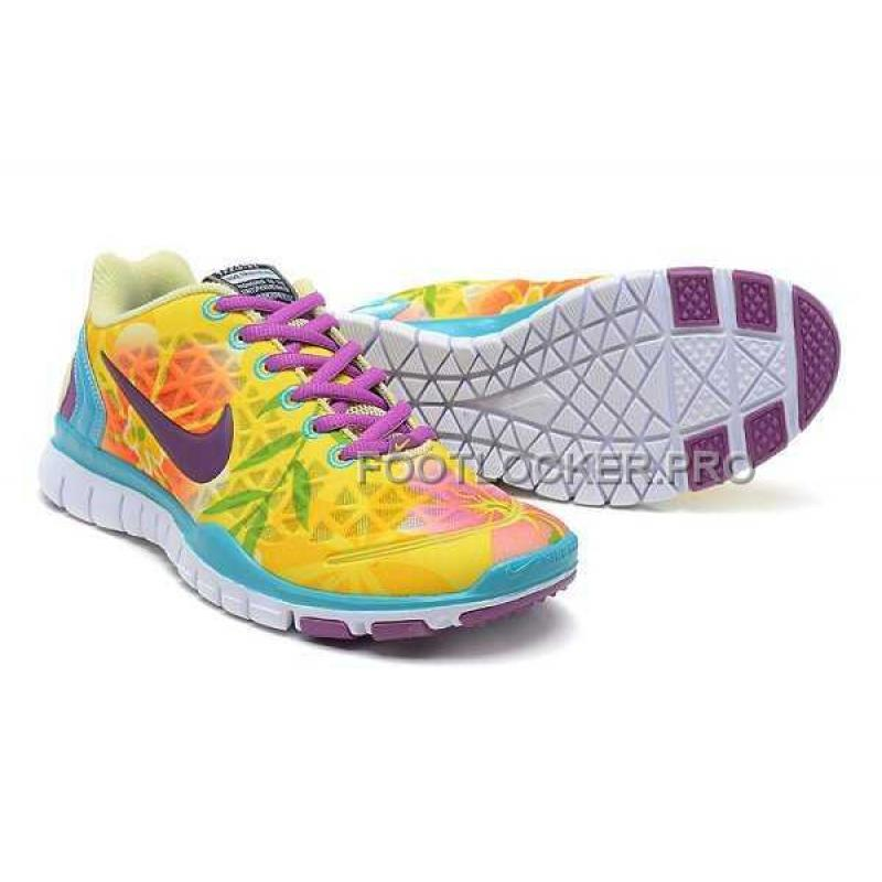 new product eda14 5aaea ... Nike Free TR Fit 2 Womens Lemon Yellow Jade Purple Red Shoes For Sale  ...